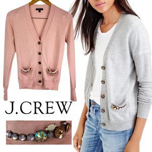 J. Crew Merino Wool Cardigan | Blush Jewel Pockets